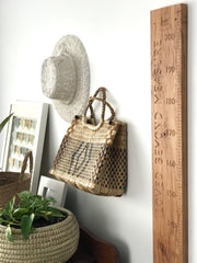 Natural rimu carved height chart with your own quote down the side