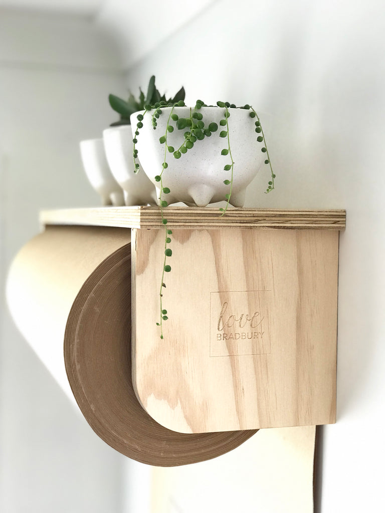 Ply Kraft Paper Roller with Shelf
