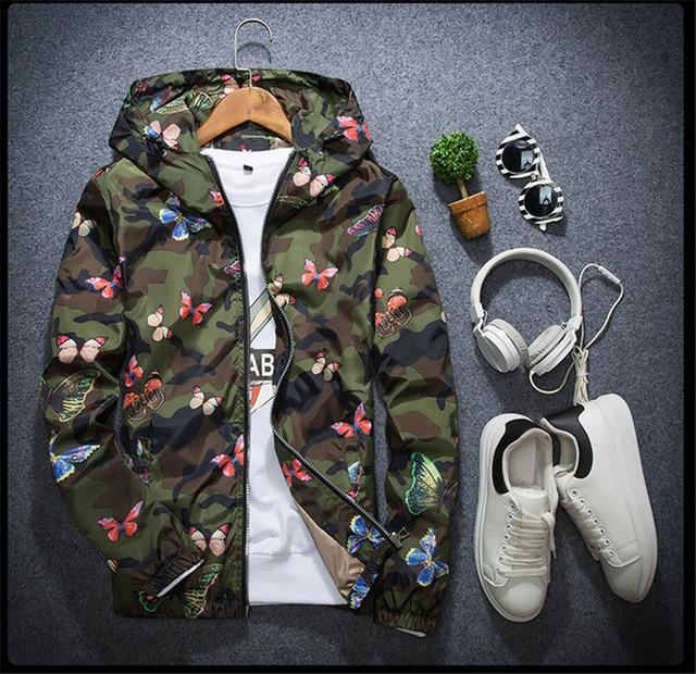 """Butterfly"" Camouflage Hoodie Jacket"