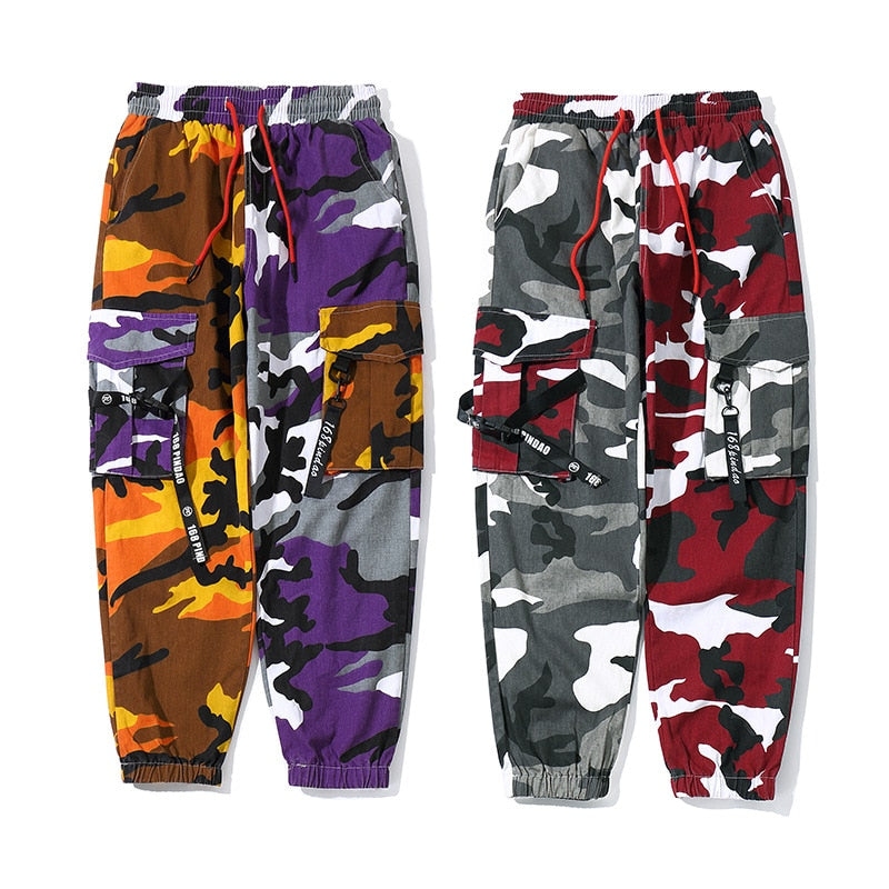 Patched Camo Joggers