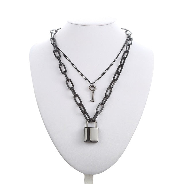 """Lock-In""Chain Necklace"