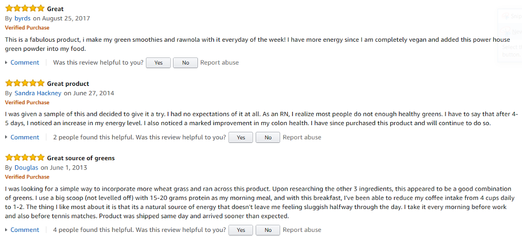 Oriya Organics 100% Greens Amazon Reviews