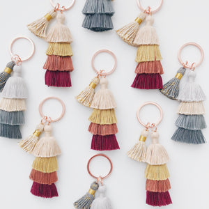 Fall Tiered Tassel Keychain - lefty.script