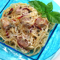 Hawaiian Ahi with Linguine