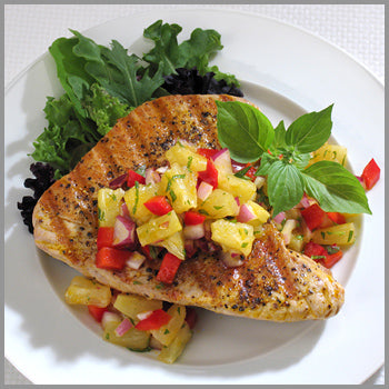 Pele's Fire Grilled Ahi with Tropical Salsa