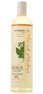 KUKUIæ Sunset Massage Oil with Tropic Breeze Fragrance