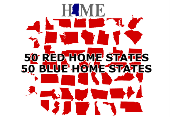 Home design red version third set of 14 states (more added in sublimation album)