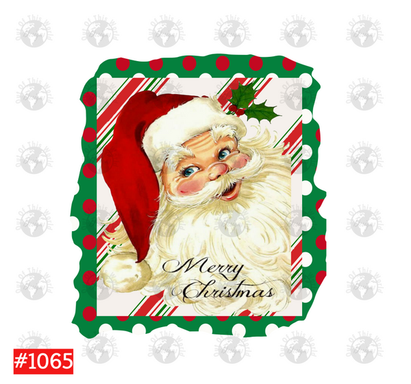 Sublimation print  - Merry Christmas Santa #1065