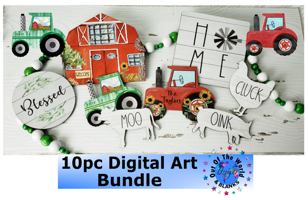 Digital download - 10pc Farm Design Bundle  - made for our sub blanks