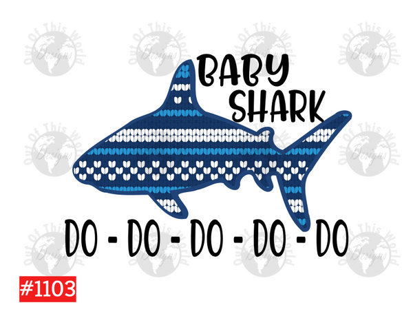 Sublimation print -   Baby Shark #1103