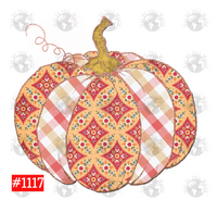 Sublimation print -  Pattern Pumpkin #1117