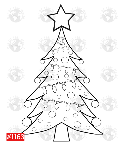 Sublimation print -  Christmas Tree Color Sheet For Sublimation #1163