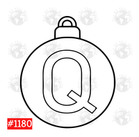 Sublimation print -Christmas Bulb Letter Q  #1180