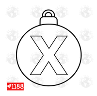 Sublimation print -Christmas Bulb Letter X #1188