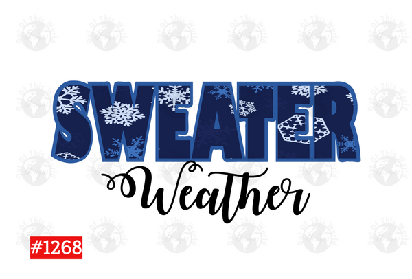 Sublimation print -  Sweater Weather #1268