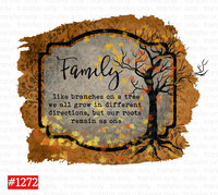 Sublimation print -  Family Tree #1272