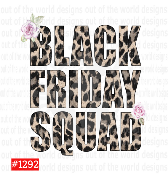 Sublimation print - Black Friday Squads #1292