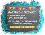 This is the Digital Design Drive Access 2021+ 1 free month of 2020