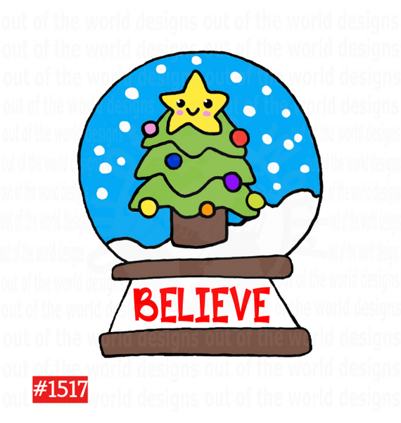 Sublimation print - Believe Snow Globe #1517
