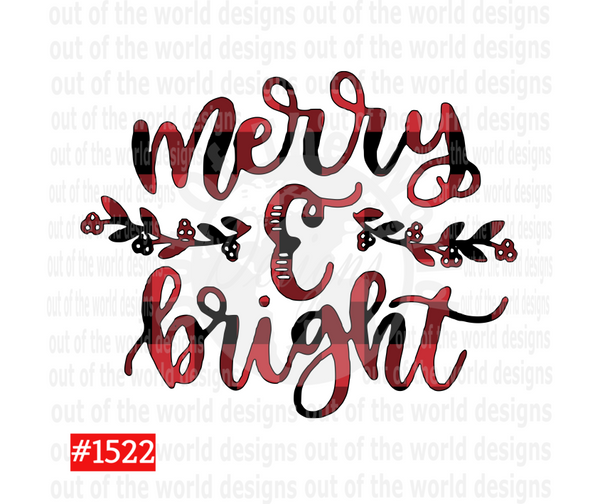Sublimation print - Merry and Bright #1522