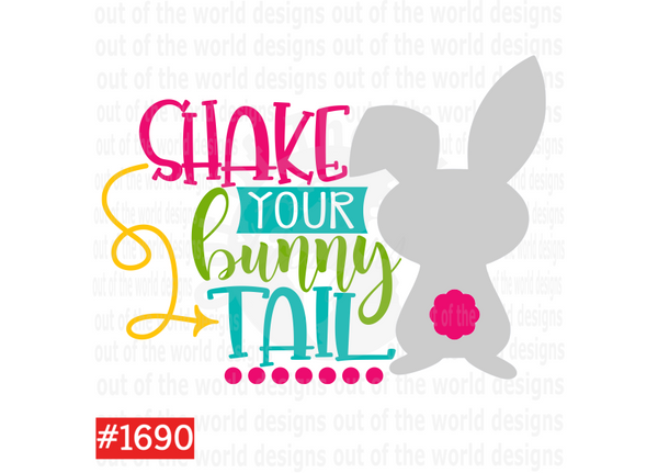 Sublimation print - Shake your bunny tail #1690