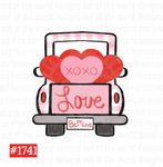Sublimation print - Love be mine truck #1741