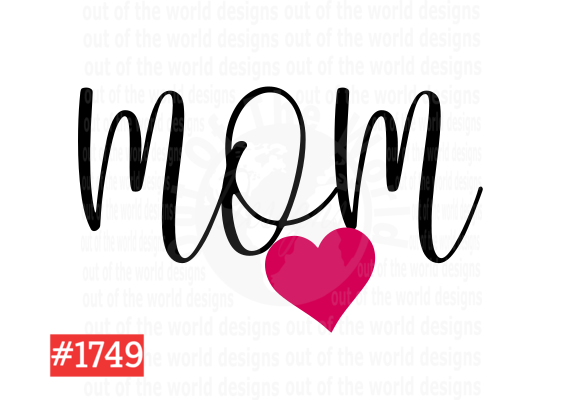 Sublimation print - Mom with pink heart #1749