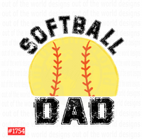 Sublimation print - Softball Dad #1754