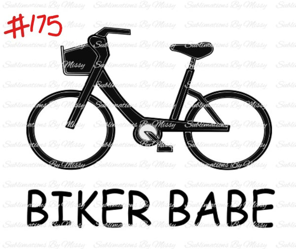 Sublimation print -  Biker babe