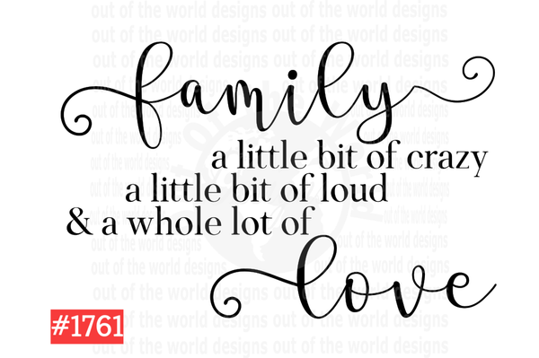 Sublimation print - Family Love #1761