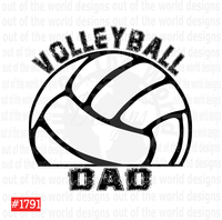 Sublimation print - Volleyball Dad #1791