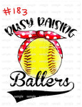 Sublimation print - Busy raising ballers softball #183