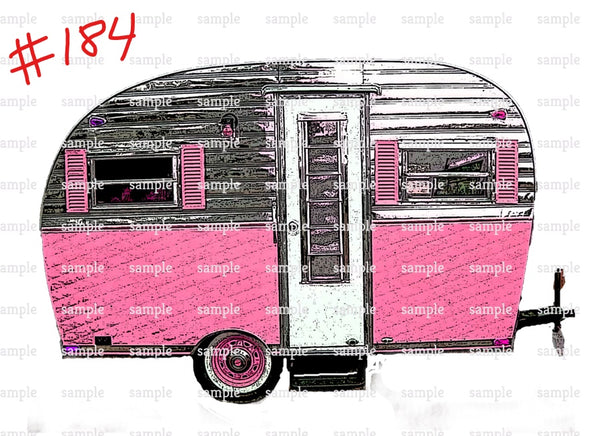 Sublimation print - Pink Camper #184