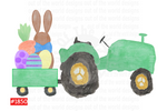 Sublimation print - Easter Bunny Tractor #1850