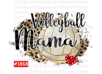 Sublimation print - Volleyball Mama #1868
