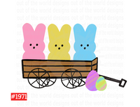 Sublimation print - Peeps with wagon #1971