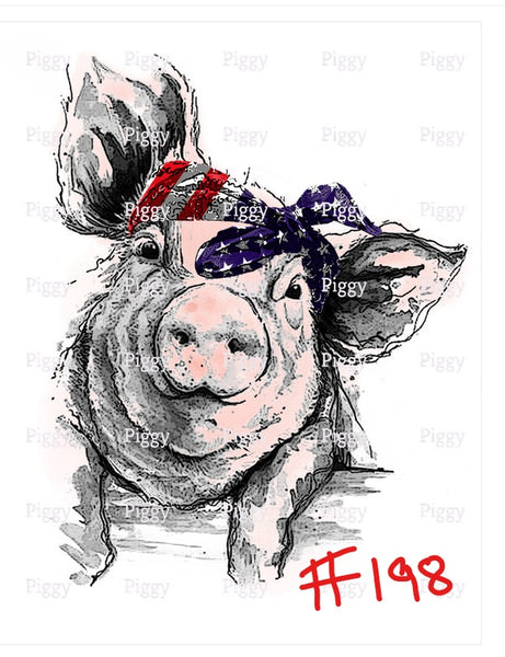 Sublimation print - American Pig #198