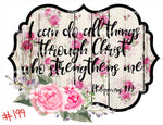 Sublimation print - I can do all things through christ who strengthens me #199