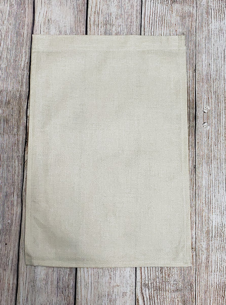 100% polyester garden flag burlap look and color (sublimation ready)