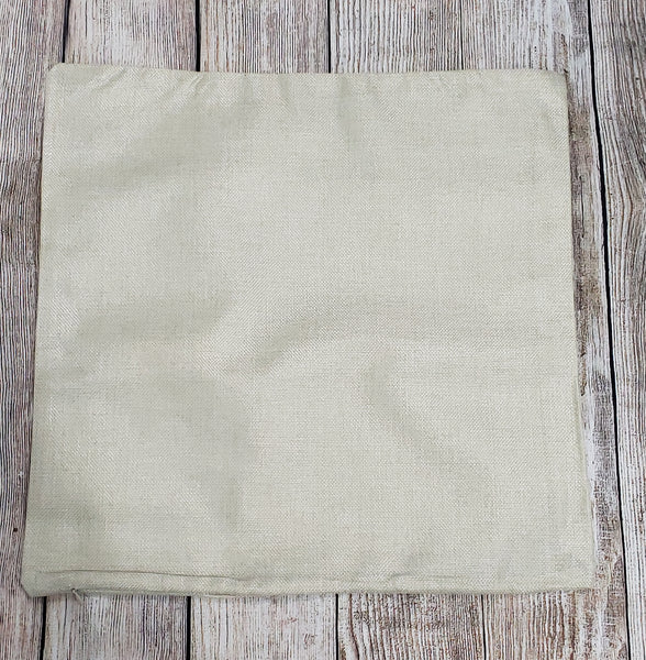 100% Polyester pillow case burlap look (sublimation ready)