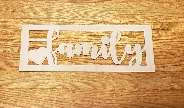 Family Wood Blank For Painting