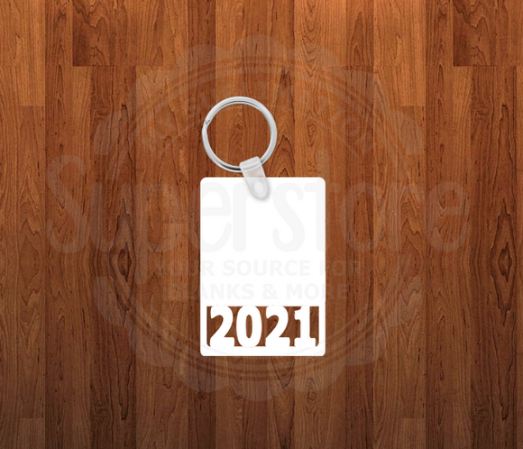 2021 Keychain - Single sided or double sided - Sublimation Blank