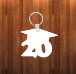 Grad20 Keychain - Single sided or double sided  -  Sublimation Blank