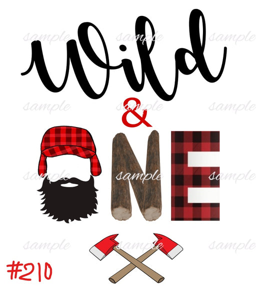 Sublimation print - Wild & One Lumberjack #210