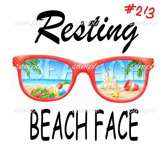 Sublimation print - Resting Beach Face #213