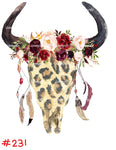 Sublimation print - Cheetah bull head  #231