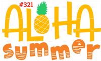 Sublimation print - Aloha Summer #321