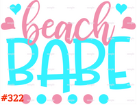 Sublimation print - Beach Babe #322