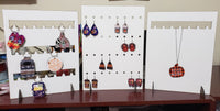 3 Display Stands for one price Keychain, Necklace & Earring -  Sublimation Blank  - 1 sided  or 2 sided options