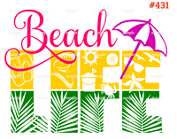 Sublimation print - Beach Life #431